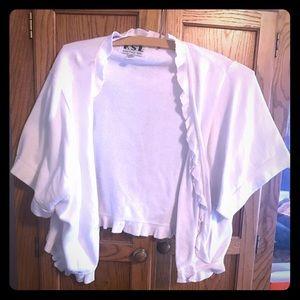 Other - Cotton white bolero knit jacket
